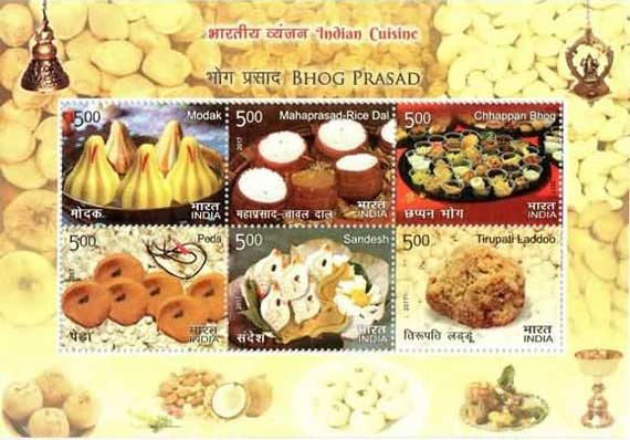 Commemorative Stamps on Indian Cuisine