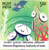 Commemorative Stamp on The Telecom Regulatory Authority of India (TRAI)