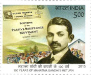 Commemorative Stamps on 100 Years of Mahatma Gandhi's Return