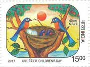 Commemorative Stamp on Nest