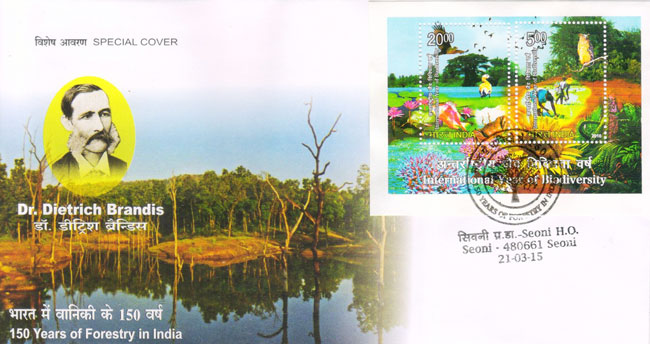 Special Cover on 150 Years of Forestry in India
