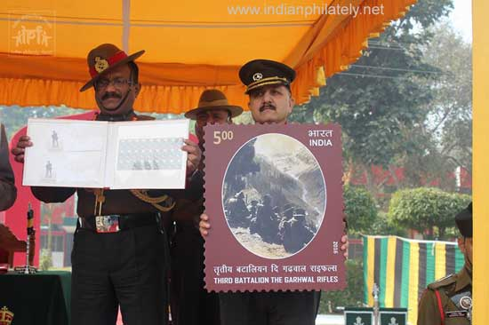 Commemorative Stamp on Third Battalion The Garhwal Rifles