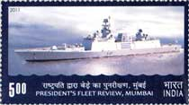 Stamps issued on President's Fleet Review 2011