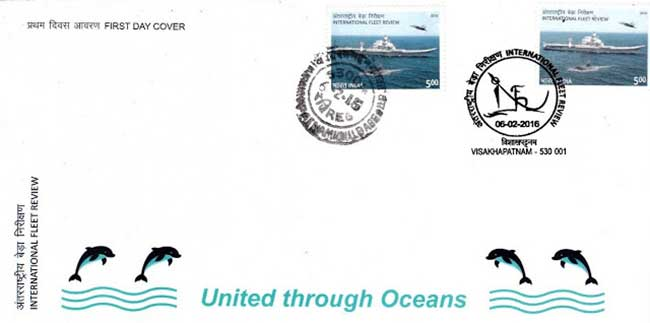 First Day Cover issued on International Fleet Review 2016
