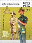 Commemorative Stamp on 3 Kumaon (Rifles)
