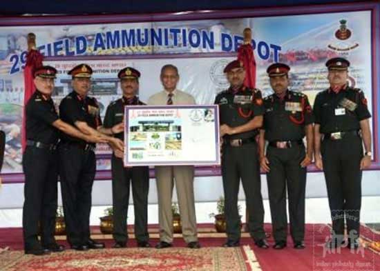 Special Cover on Platinum Jubilee Celebration of 29 Field Ammunition Depot