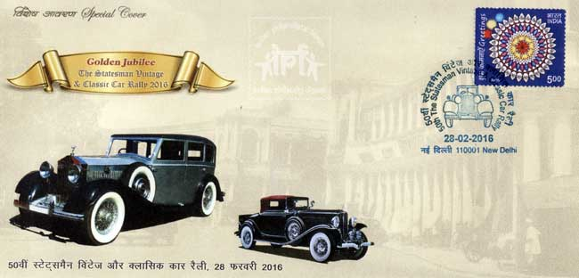 Special cover on Golden Jubilee of The Statesman Vintage & Classic Car Rally 2016