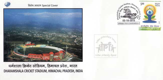 Special Cover on Dharmashala Cricket Stadium