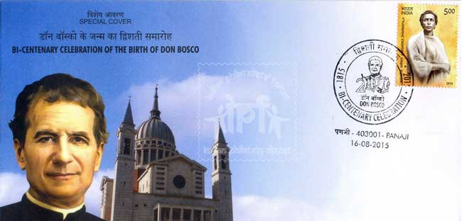 Special Cover on the occasion Bi-Centenary Birth Celebration of St. Don Bosco