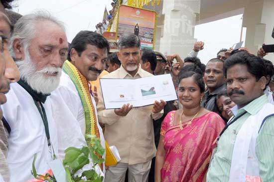Special Cover on Godavari Pushkaralu released at Narasapuram