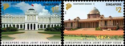 India Singapore Joint issue - Singapore Stamps