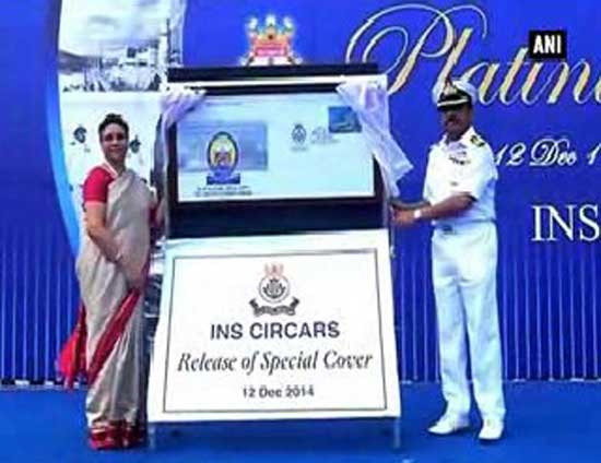 Special Cover on INS Circars Platinum Jubilee
