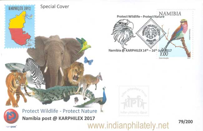 Namibia Special Cover at Karphilex 2017