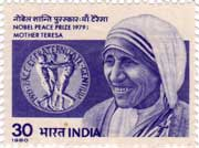 Mother Teresa Nobel Peace Prize Winner
