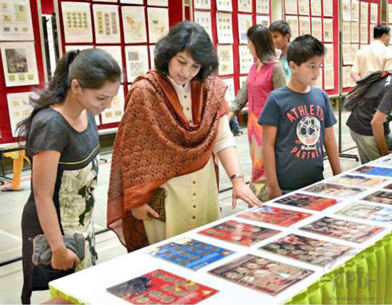 Stamp and Coins Exhibition at Manipal University