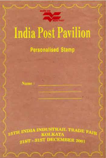 Personalised Stamps issued at Kolkata