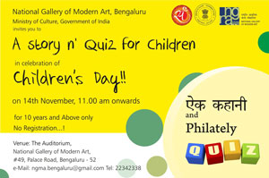 Philatelic Quiz and Story-telling event at Bengaluru