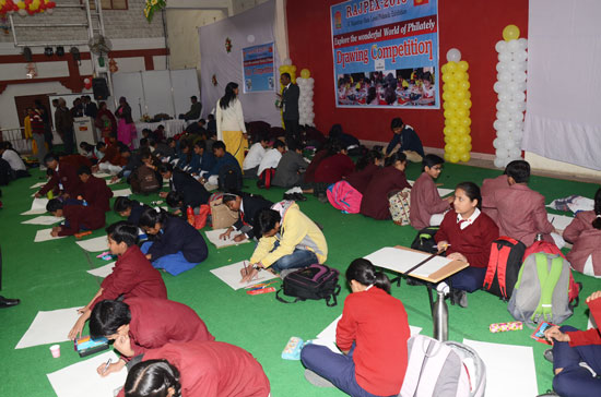 Drawing Competition at Rajpex 2015