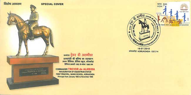 Special Cover on inauguration of Equestrian Statue of Commander Trevor de Almeida